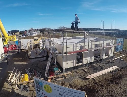 Zeitraffer Holz 100 Hausbau in Nettersheim holz+technik Pünder Rebholz GbR